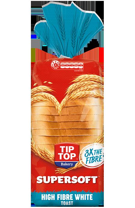 Tip Top Supersoft Hi Fibre White Toast Pack Shot